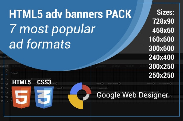 Google Web Designer HTML5 adv banners template