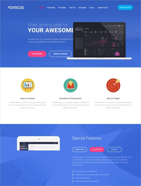 Onepage App Startup Landing Joomla Template