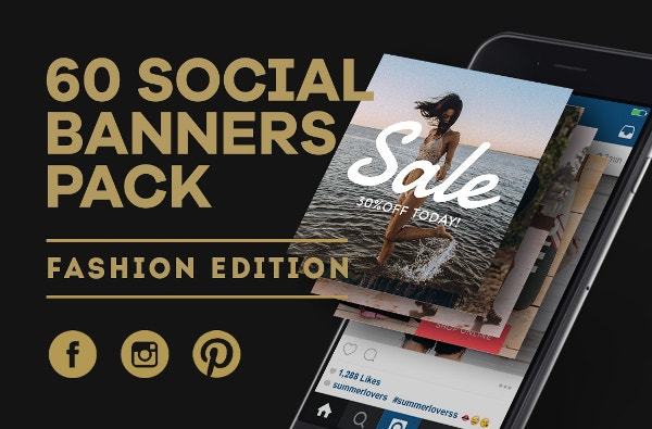 fashion edition social media banners pack