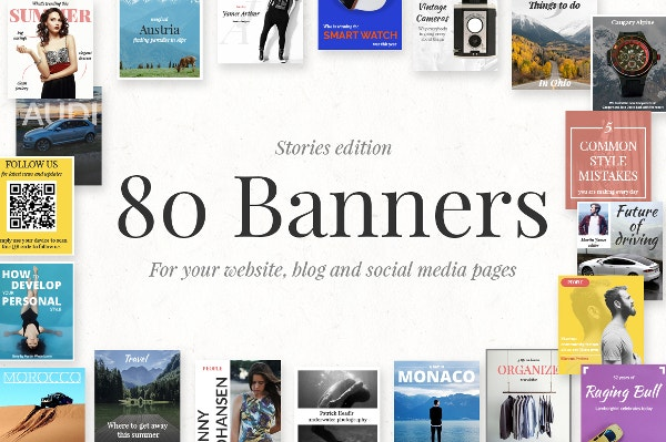 Beautiful Bunch of Banners PSD Format