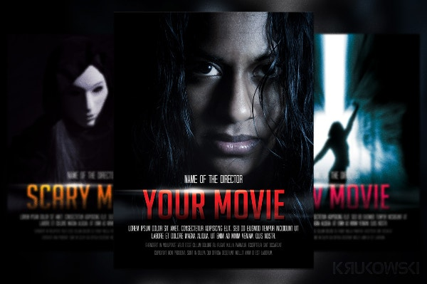 movie poster flyer psd print banner template