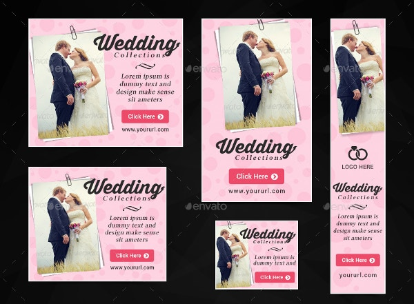 quality wedding banner template psd files download