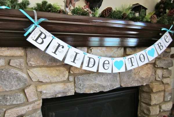 Handmade Bridal Shower Sample Banner Template