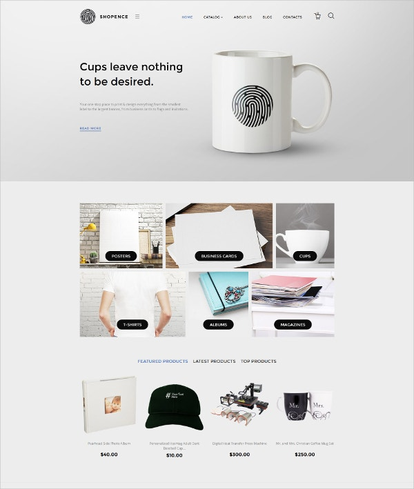 Shopence VirtueMart Blog Template