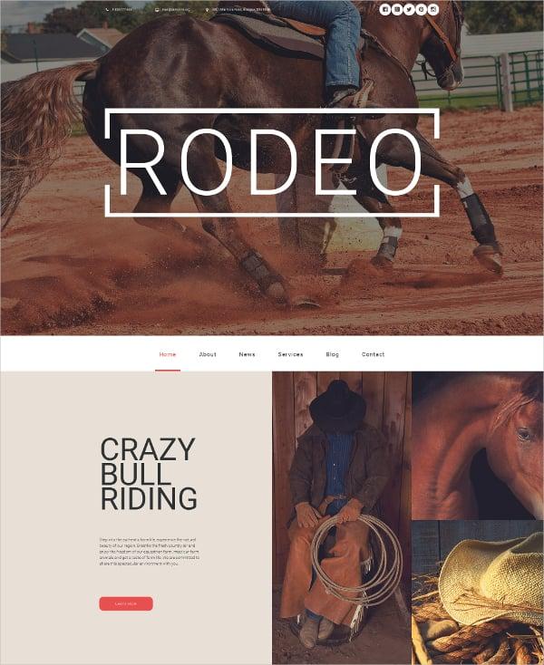 Horse Responsive Moto CMS 3 Blog Template