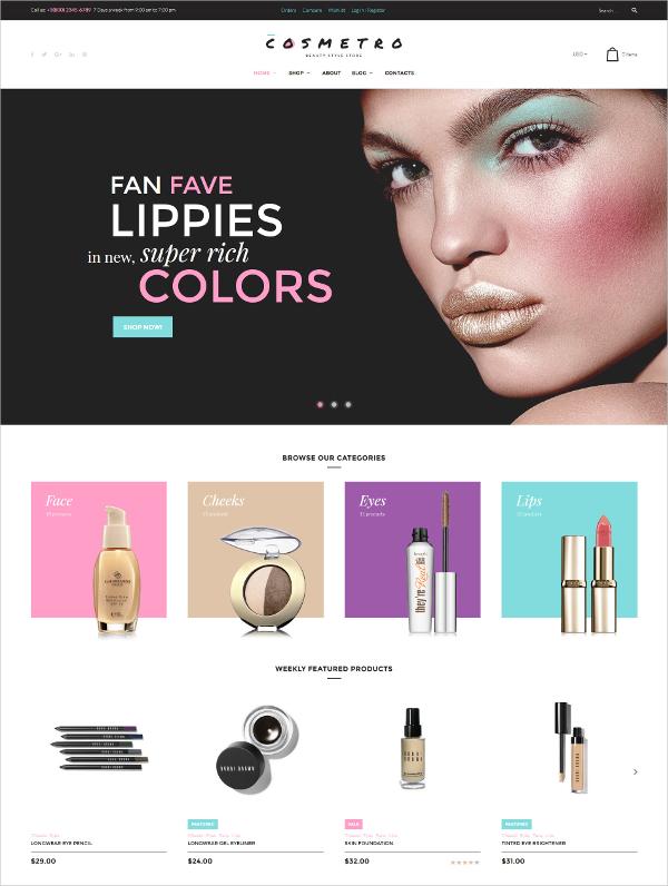 Cosmetro WooCommerce Blog Theme