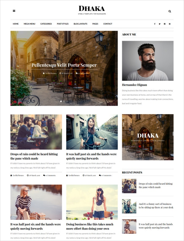 HTML5 Responsive Blog Template