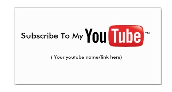 Simple YouTube Banner Template Premium Download
