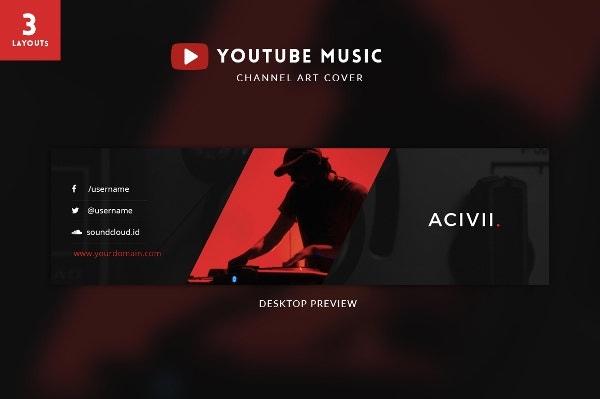 Youtube Banner Templates – 21+ Free Psd, Ai, Vector Eps Format