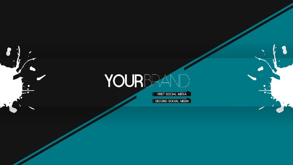 Minimalistic YouTube Banner Design Template Download