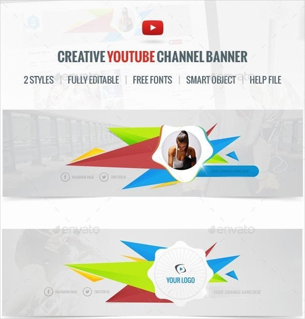 easy creative youtube channel banner template