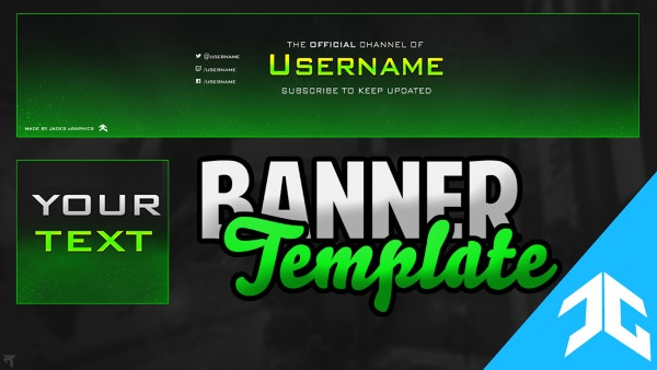 Awesome YouTube Banner Template Free Download