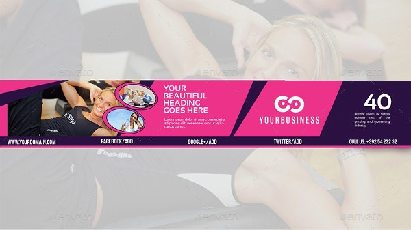 Youtube Banner Template Fully layered PSD Download