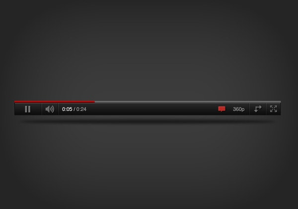 YouTube Player PSD Template