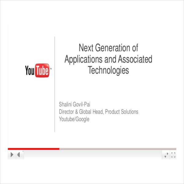 YouTube PowerPoint Template Download in PDF