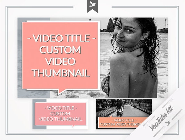 Super Sexy YouTube Template PSD Format