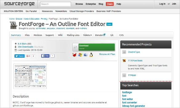 FontForge – An Outline Font Editor
