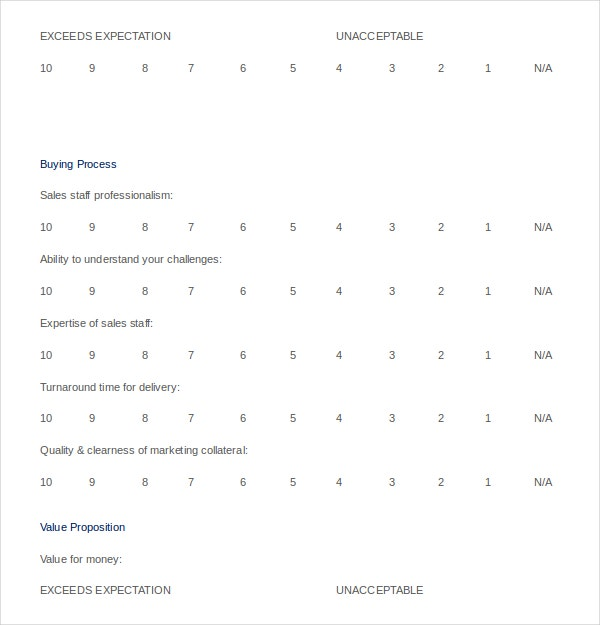Customer Survey Templates   Free Word Excel Pdf Documents