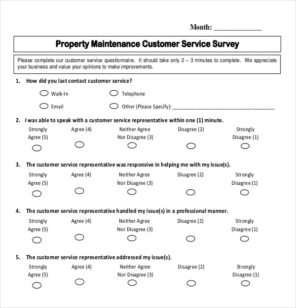 Customer Service Survey Template  NinjaTurtletechrepairsCo