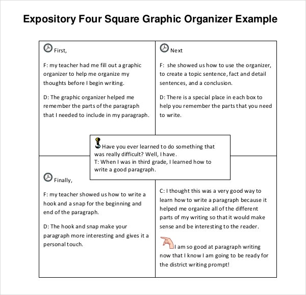 free download expository four square writing template pdf format