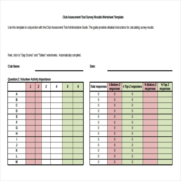 Survey Results Template   Free Word Excel Pdf Documents