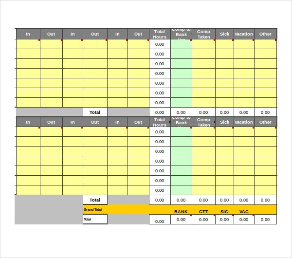 microsoft excel bi weekly timesheet template download