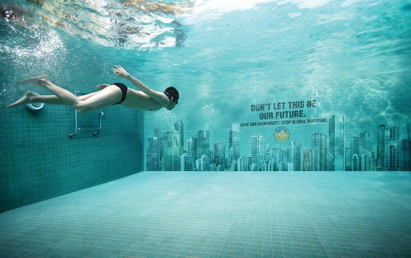 swimming pool biilboard ads