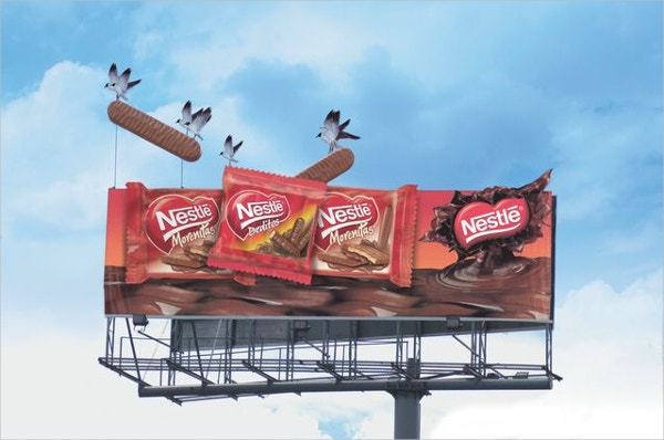 nestle bill boards out of the world