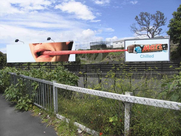 Billboards Ad of Mars Chilled Tongue