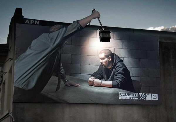 law order outdoor lamp billboard ad