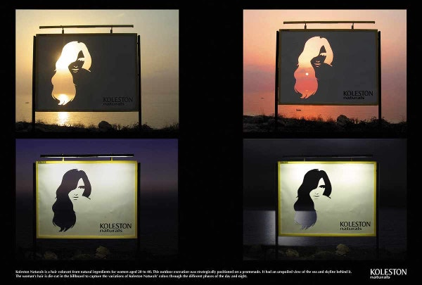 kolestron naturals billboards ad change