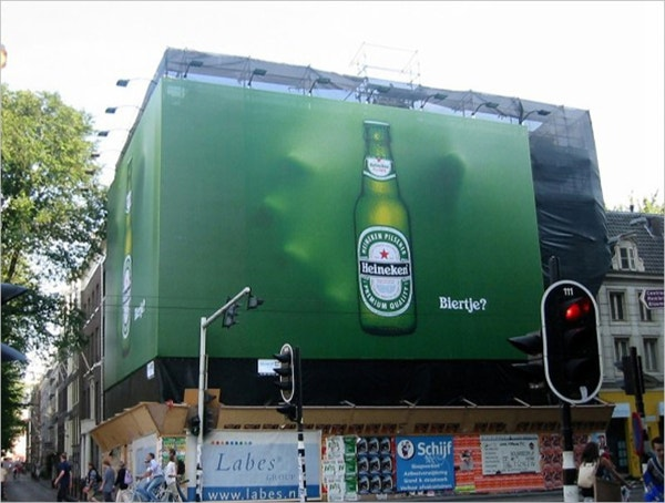 heineken awesome 3d billboard ad