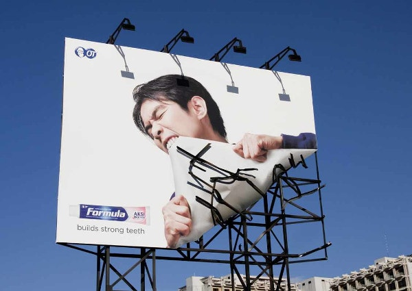 Formula Toothcare: Bite Funny Billboards Ad