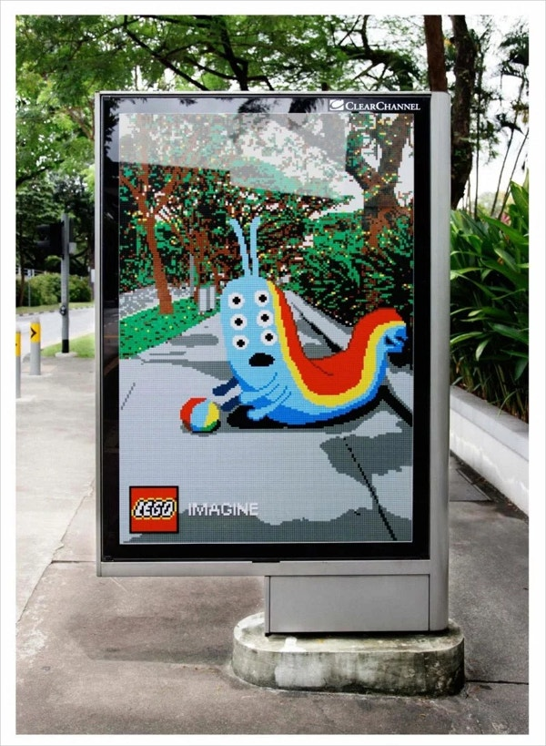 Cool Billboards Ad of LEGO Pieces