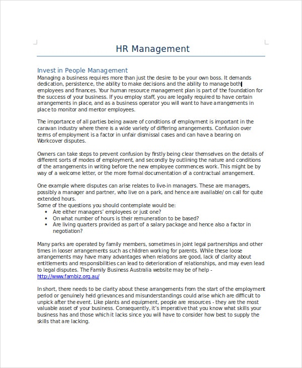 Human-Resources-Management-Policy-Template