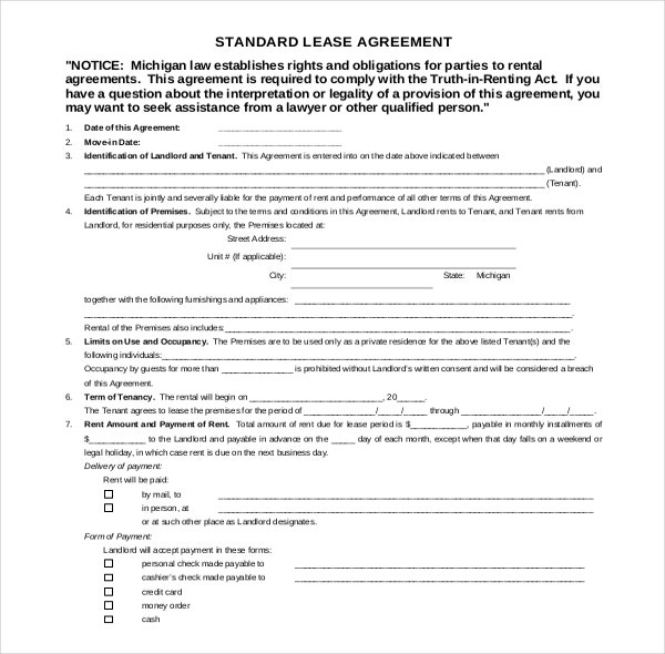 Lease Rental Agreement