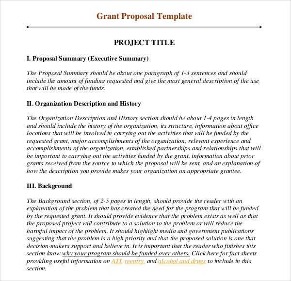 Grant writing template 8 free word pdf ppt documents for Writing a proposal for funding template