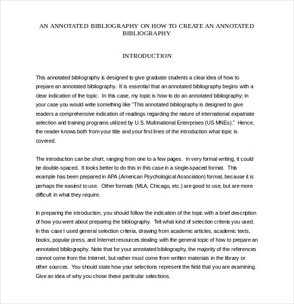Simple Annotated Bibliography Templates     Free Sample  Example