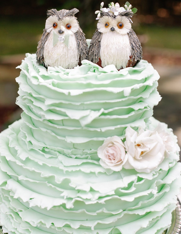 Owl Wedding Cake Design