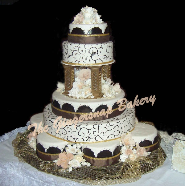 All That Glitters Chocolate Wedding Cake