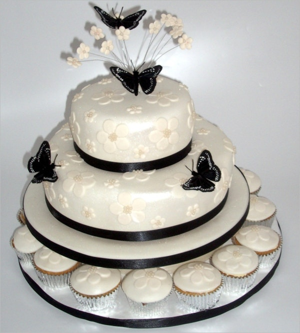 wedding cakes butterfly decoration cream color design