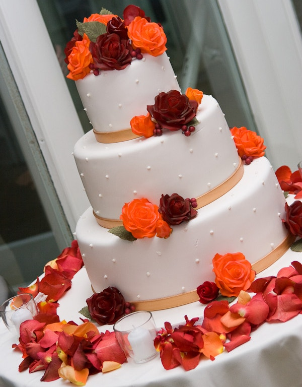 Free Simple Chic Creative Wedding Cake Design