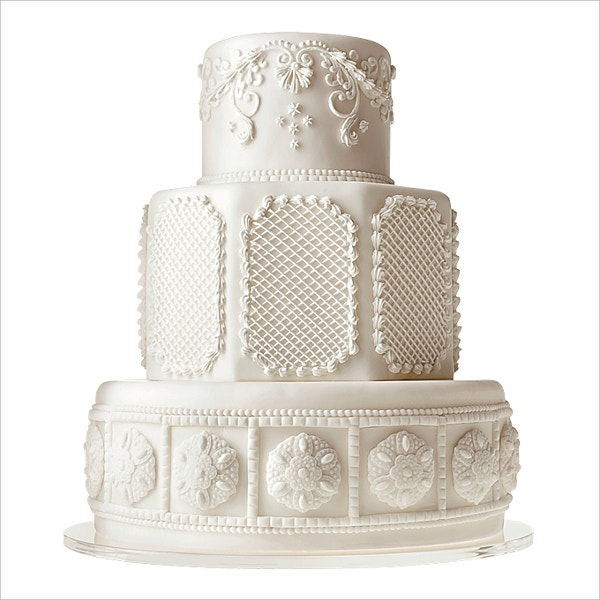 most beautiful and creative white wedding cake of the year