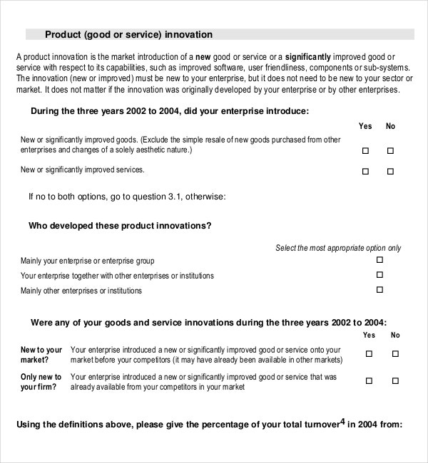 Product survey templates 13 free word pdf documents for Market research document template