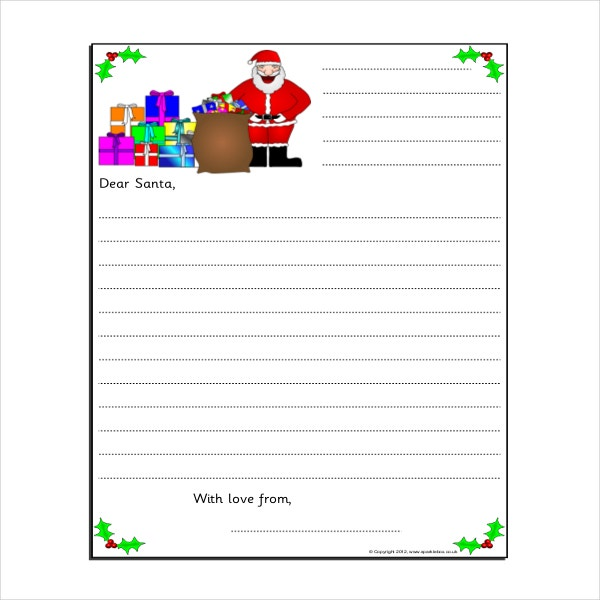 sample letter writing frame template