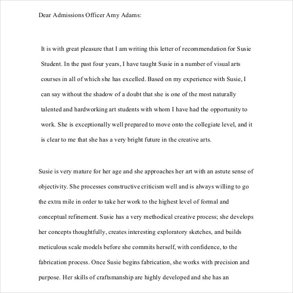 Student Letter Writing Template PDF Free Download