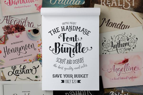 Great Font Deal - Graptail Font Bundle