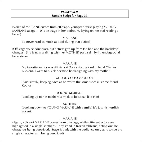 movie script template  11  Script Writing Templates – Free Sample, Example Format Download ...