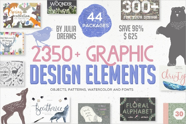 Get Up To 96% OFF on these Graphic Design Elements