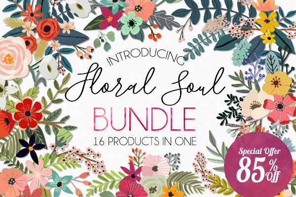 Floral Soul Illustration Bundle - Get 85% OFF